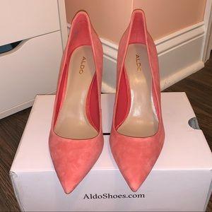 NWOT Aldo Pumps- peachy pink size 8.5